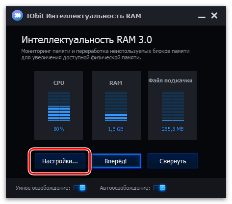 IObit Интеллектуальность RAM
